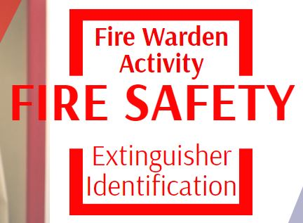 fire warden activity fire extinguisher identification