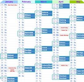 Course Calendar 2020