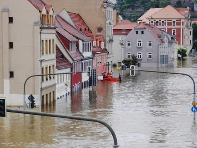 Flooding as a result of climate change
