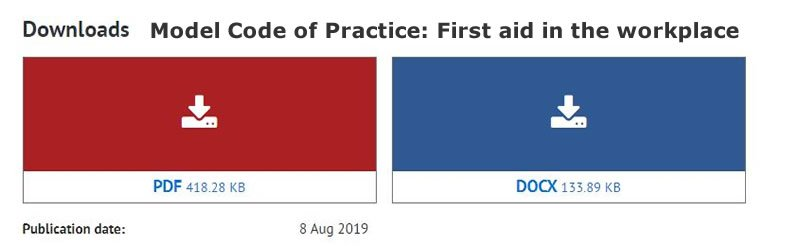 download Model Code of Practice First aid in the workplace