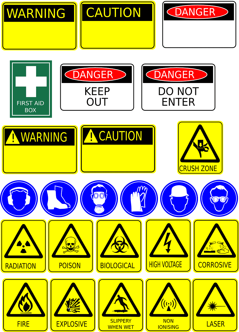 safety signs are another piece of equipment in the workplace.