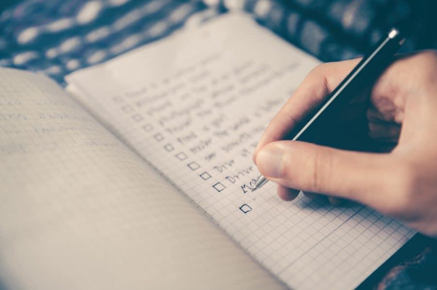 bomb treat checklist in use